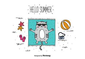Bonjour fond de vecteur d'été