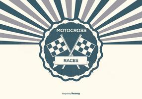 Retro Motocross Illustration