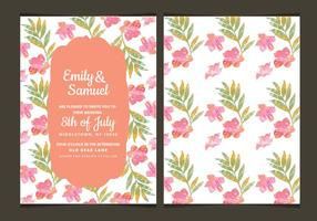 Floral Vector Wedding Invitation