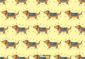 Doodle Dachshund Vector Pattern