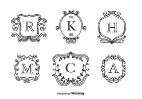 Monogrammen Vector Set