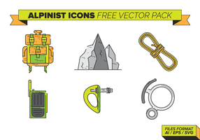 Alpinist Icons Free Vecto Pack