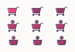 Shopping Cart Icon Set