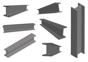 Viga De Acero Construcción De Metal Vector