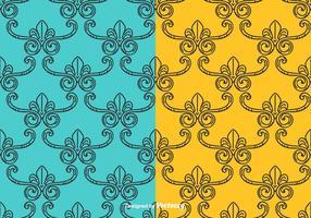 Conjunto de patrones de vectores Vintage