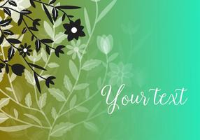 Vector-green-floral-background