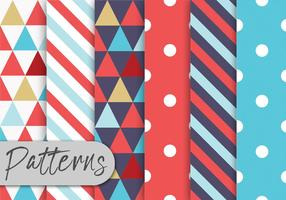 Colorful Geometric Pattern Set vector