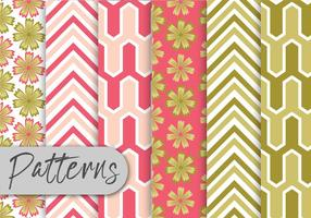 Pink-and-green-pattern-set