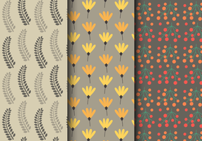 Free Autumn Floral Pattern