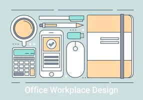 Gratis Lineaire Office Work Vector Elementen