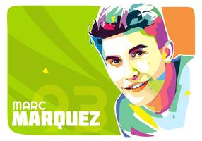 Marc Marquez Vektor Popart Porträt