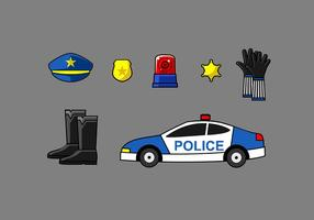 Politie Element Gratis Vector