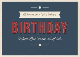 Typographic Happy Birthday Illustration vector