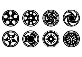 Llantas de aleación de iconos vectoriales