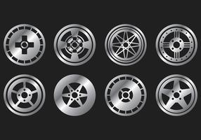 Alufelgen Vektor Icons