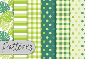 Tropical Green Pattern Set vector