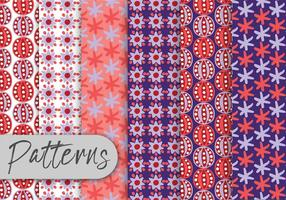 Purple Red Abstract Patterns