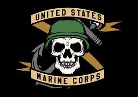 USMC Schedel Mascots Vector