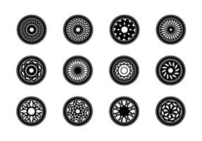 Car Rims Vector