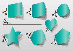 Hier knippen geometrische vorm vectoren