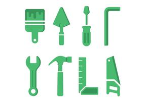 Hardware tool icons vector