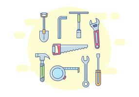 Repairman Tools Icons vector