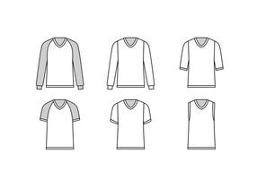 V neck layout free vector