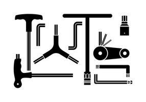 Icono libre de la silueta de la llave de Allen Vector