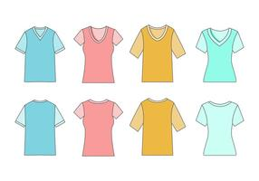 Free Men's and Women's V-Neck Shirt Vector