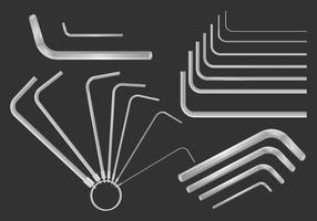 Allen Key Realistic Set Vector
