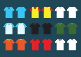 Conjunto de plantilla de camisa de cuello en V
