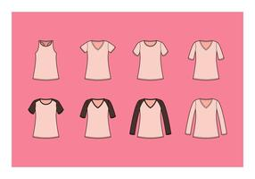 Gratis V-Neck Shirt Vector Collection