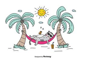Sommar Vacation Vector Bakgrund