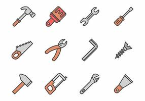 Vettore libero delle icone degli strumenti della mano