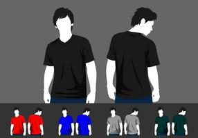 V-Neck Model Template Free Vector