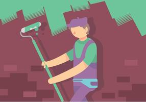 Painter Tradesman Vector