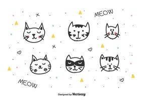 Vector de los gatos