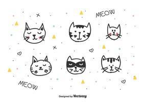 Vettore di teste di gatti
