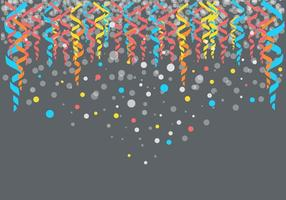 Colorfull Party Serpentine Background Vector