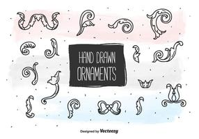 Conjunto de ornamentos desenhados a mão