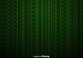 Vector Green Numbers Hintergrund In Matrix-Stil