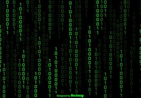 Vector Green Numbers Background In Matrix Style