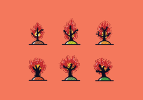 Gratis Burning Bush Vector