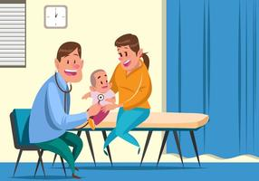 Vecteur de pédiatre de l'enfant