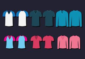V Neck Shirt Template vector