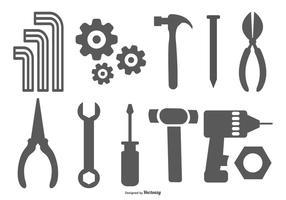 Collection de formes d'outils vectoriels