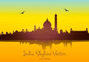 India Skyline Vector Background