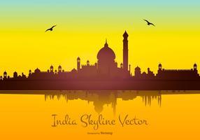 Indien Skyline Vector Bakgrund