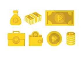 Peso related vector icon