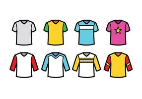 V-hals T-shirt Vector Pack